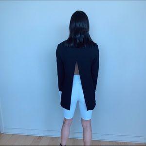 Saks Fifth Avenue Jackets & Coats - Saks 5th Open- black blazer with ruffle sleeve